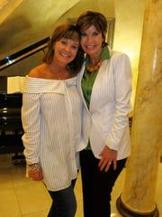 Waynette Ballengee and Linda Biernacki at Ballengee's birthday party, Way Vember.