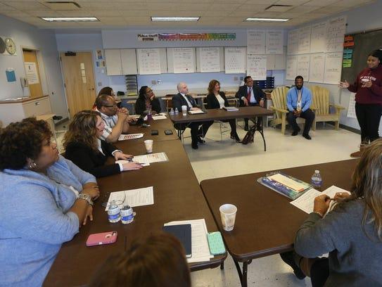 Barbara Deane-Williams and several school board members