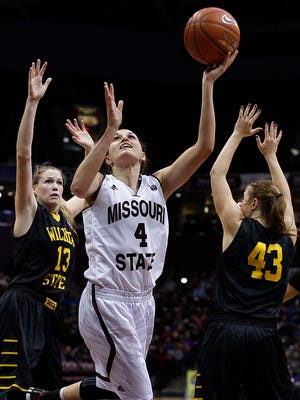 Missouri State's Kenzie Williams puts up a shot against Wichita State during Friday's game at JQH Arena.