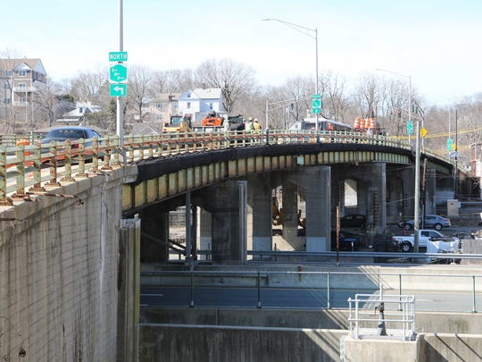 The Ashford Avenue bridge between Ardsley and Dobbs Ferry is undergoing a $17.9 million project to fully rehabilitate the deteriorating bridge, March 1, 2016.