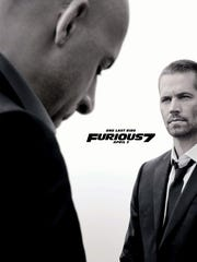 One last ride: The movie poster for 'Furious 7,' featuring