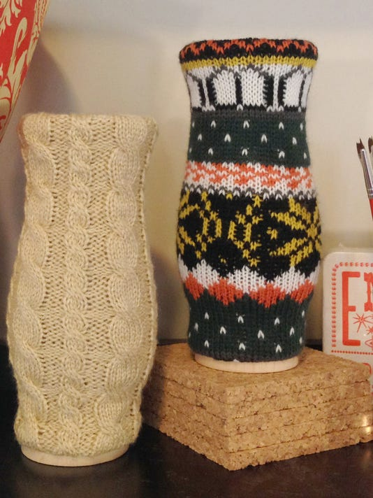 Two sweater vases