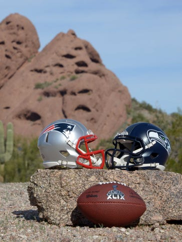 Super Bowl XLIX between the Patriots and Seahawks will