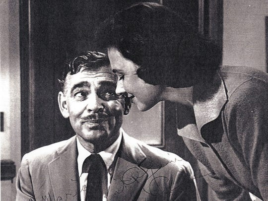 Signed photo of Marion Ross with Clark Gable in Teachers Pet, from Ross's personal collection