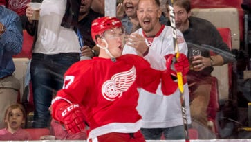 Red Wings' 2015 first-round pick Evgeny Svechnikov has 17 goals and 23 assists in Grand Rapids this season.