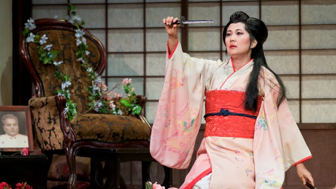 """Cio-Cio-San, tragic protagonist of Puccini's opera """"Madama Butterfly,"""" will be performed by Asako Tamura this weekend in Westfield and Madison.  Tamura sang the role this past fall with Sarasota Opera (shown).  """"Madama Butterfly"""" will be accompanied by the NJ Festival Orchestra under musical director David Wroe."""