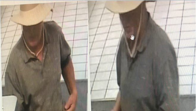 Cape Coral police are searching for this suspect in a 5/3 Bank robbery on Friday morning.