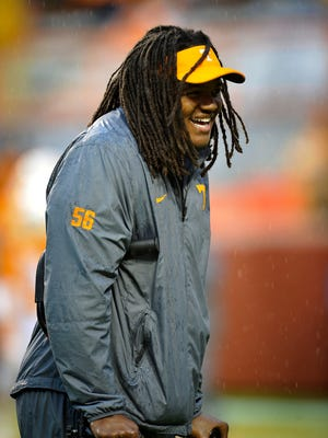 Former Tennessee defensive standout Curt Maggitt was invited to the NFL Combine on Thursday, two days after a lawsuit was filed that accuses him of assaulting a teammate who assisted an alleged rape victim.