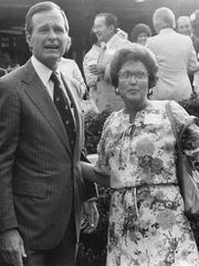 George Bush poses with Verta Hardegree, in Abilene probably in 1984 when he was vice president.