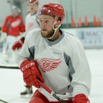 Dylan Sadowy talks about his first Red Wings camp