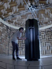 Producer and DJ Andrew Hypes from Waynesboro at IBM's data center in Poughkeepsie, New York.