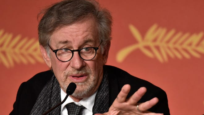 Steven Spielberg attends the press conference for 'The BFG' during Cannes Film Festival.
