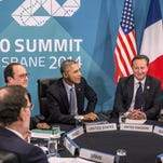 European heads of state and President Obama attend the Transatlantic Trade and Investment Partnership (TTIP) meeting in Brisbane, Australia, in 2014.
