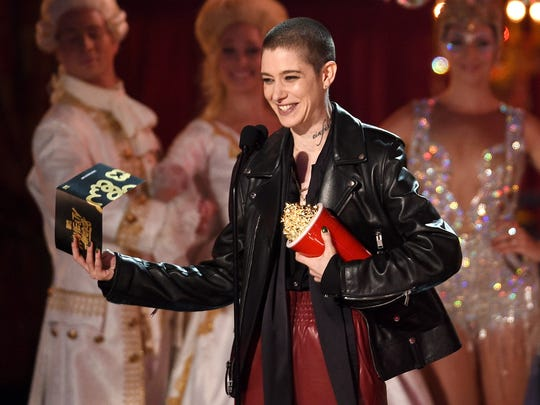 Actor Asia Kate Dillon speaks onstage during the 2017