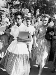 Racism was on full display among the white objectors to the desegregation of Little Rock Central High School in 1957. Black students were assaulted, insulted and spat upon as they made their way to school.