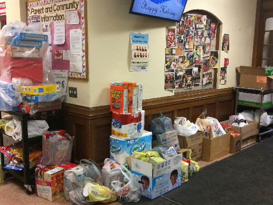 Students donate to food cupboard