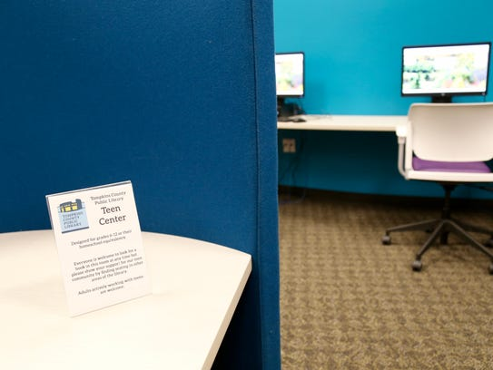 The new Teen Space in Tompkins County Public Library.