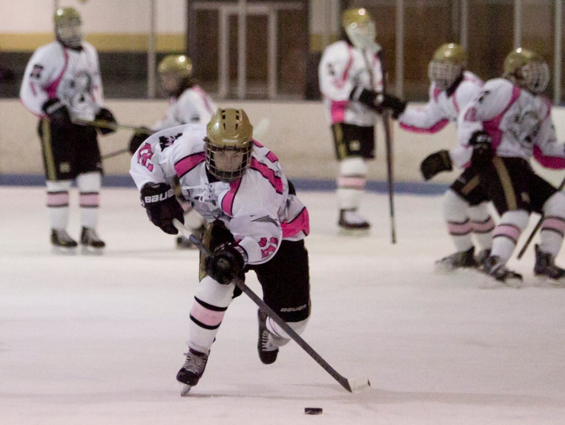 Highlander Max DiCicco scored the game-winning goal against Hartland on Tuesday night.