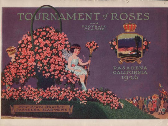 An edition of the Pasadena Star-News previews the 1926 Rose Bowl game between the UW and Alabama and the accompanying parade.