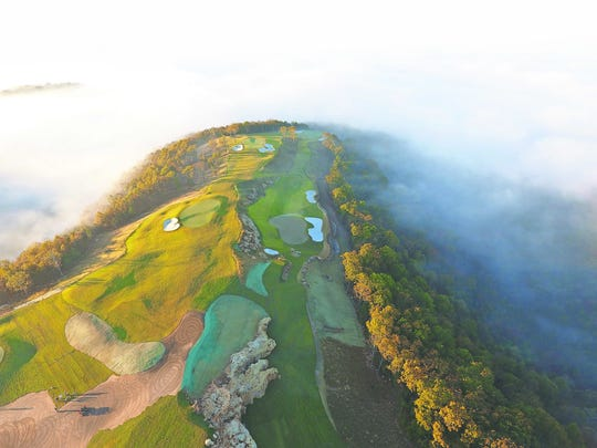 The Gary Player par-3 course at the Buffalo Ridge site
