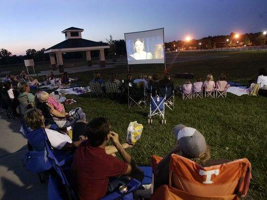 Movies Under the Stars shows free, family-friendly movies.
