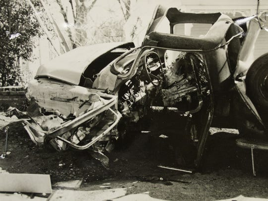 This is all that was left of Wharlest Jackson's truck after a bomb blew it and him to pieces in Natchez in 1967.