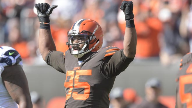 Browns defensive end Myles Garrett's contract will just add to the pressure he will face coming off a six-game suspension for hitting Mason Rudolph in the head with the Pittsburgh Steelers quarterback's helmet.