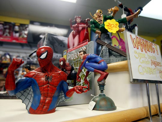 Tony Grove, owner of Tony's Kingdom of Comics, has filled his shop with a large assortment of items to appeal to his customers.