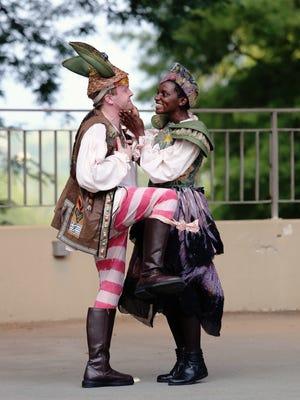 "Josh Katawick and Tia Davis are pictured here in Cincinnati Shakespeare Company's 2015 production of ""A Midsummer Night's Dream."""