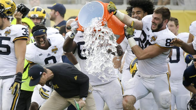 When Jim Harbaugh arrived at Michigan, many thought it would take him some time to get the U-M program back on track. But in his first season, the Wolverines went 10-3 with a blowout win over Florida in the Citrus Bowl.