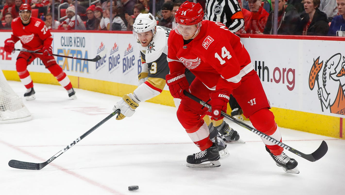 Golden Knights 4, Red Wings 0