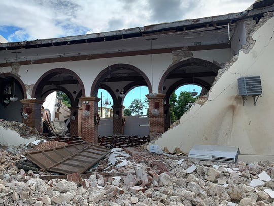 Parroquia Inmaculada Concepcion church was heavily damaged after a 6.4 earthquake hit just south of the island in Guayanilla, Puerto Rico, on January 8, 2019. (Jorge Castillo/Los Angeles Times/TNS)