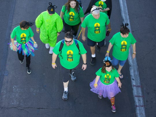 Down Syndrome Network Buddy Walk participates make