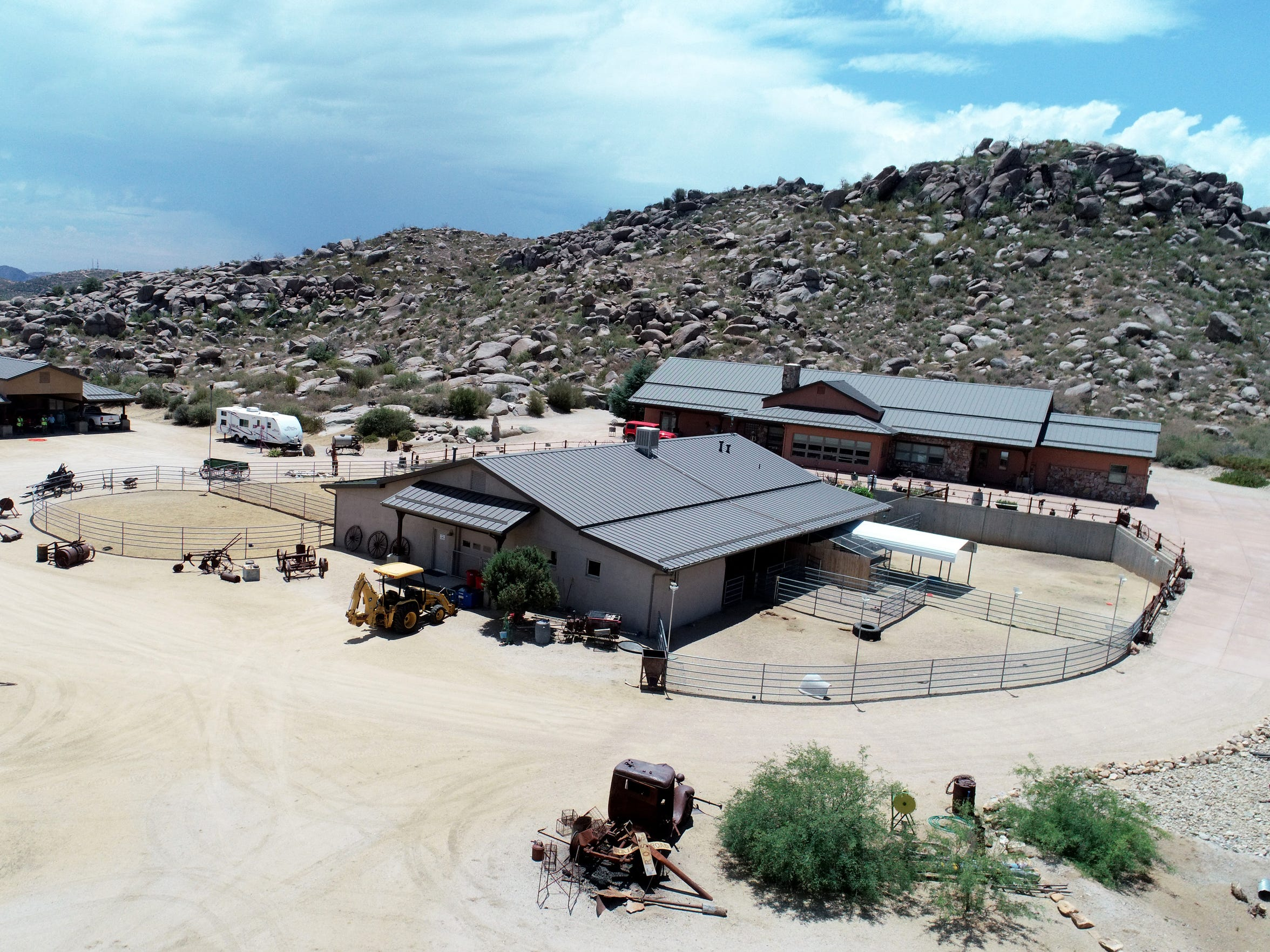 Aerial view of the ranch property owned by Diane and