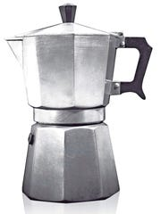 The Moka Express coffeemaker was invented in 1933 by Alfonso Bialetti and is in the permanent collections of a number of museums. It's prized for its simple but unique design and clever engineering.