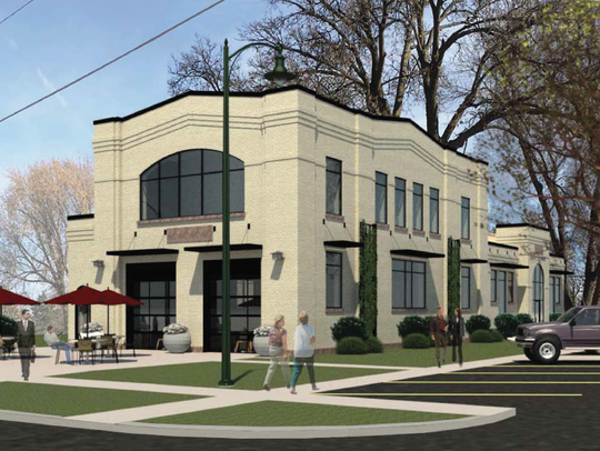 This rendering depicts what the former east-side fire