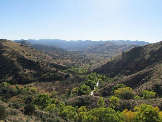 The Gila River in southwestern New Mexico, downstream