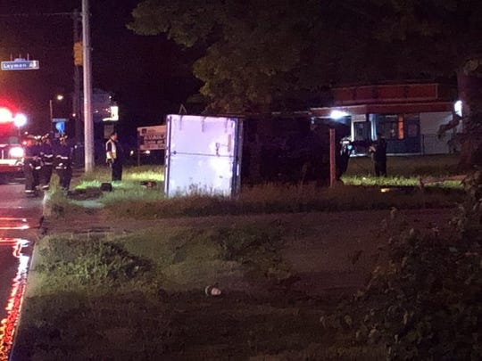 A driver died after a box truck crashed about 2:30 a.m. Wednesday near 38th Street and Layman Avenue.