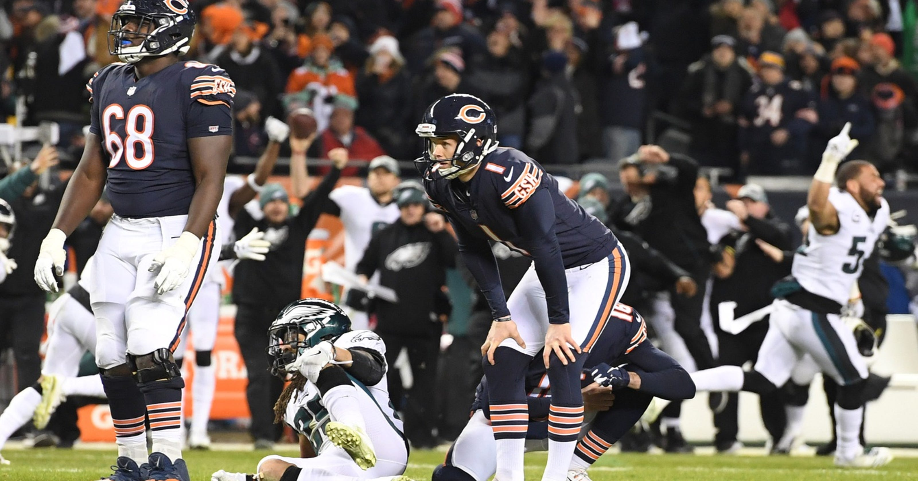 914f448636a NFL officially changes Cody Parkey s missed kick to blocked field goal by  Eagles