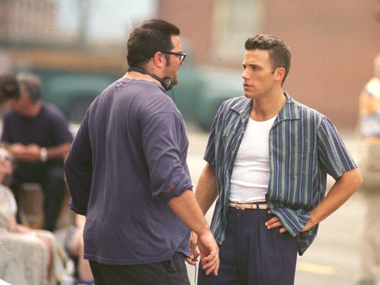 "Ben Affleck gets directed by director Mark Pellington during the making of ""Going All the Way"" in 1996."