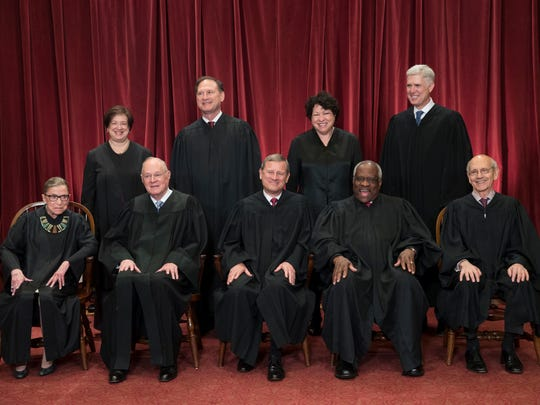 FILE - In this June 1, 2017, file photo, the justices