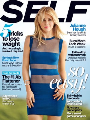 Julianne Hough shows her shape for 'Self' magazine's March issue, out Feb. 25.