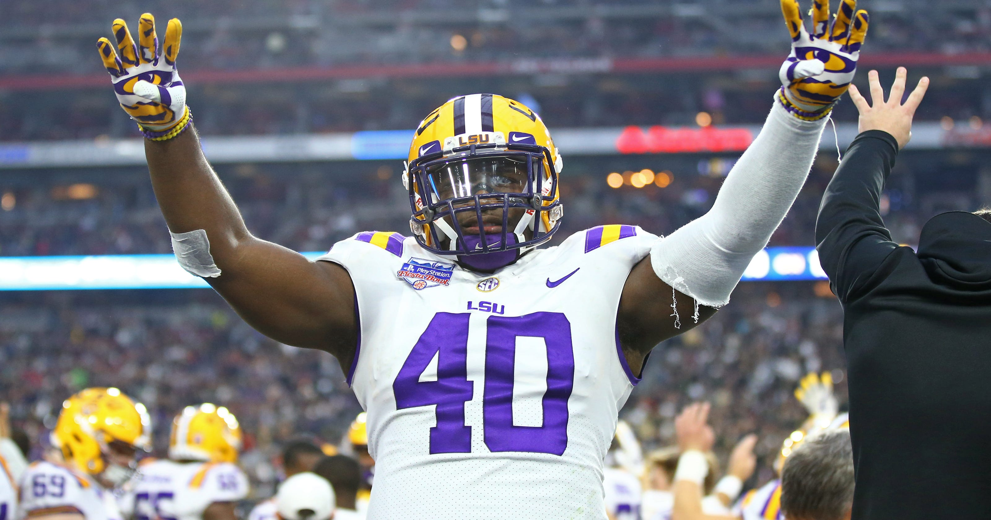 detailed look d067e 08c61 Devin White: Can LSU LB have Saquon Barkley impact on Giants ...