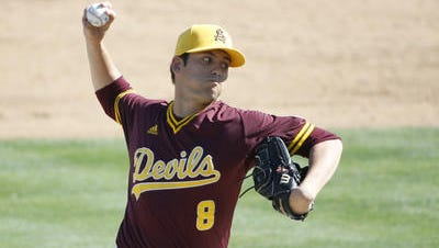 Junior right-hander Seth Martinez is ASU baseball's leading pitcher with a 9-3 record.