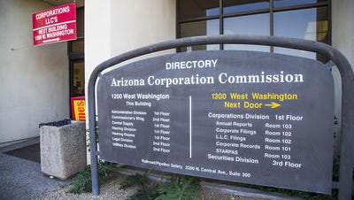 The seven men running for election to the Arizona Corporation Commission debated Wednesday whether it is appropriate for utilities to make secret donations to help elect the people who set their rates.