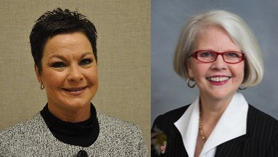 Rhonda Cole Schandevel, left, and Rep. Michele Presnell