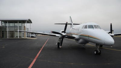 A Seaport plane rests at McKellar-Sipes Regional Airport in this file photo from Jan. 22, 2012. T