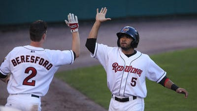 James Beresford and Eric Farris, right, will have plenty of chances to high-five in 2015.