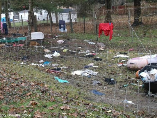 Three dogs were found living without food and water in a woman's basement, according to the Van Buren Sheriff's Department.