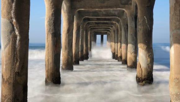 Long exposure shot in Manhattan Beach, California on